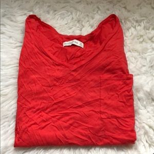 Abercrombie and fitch orange top